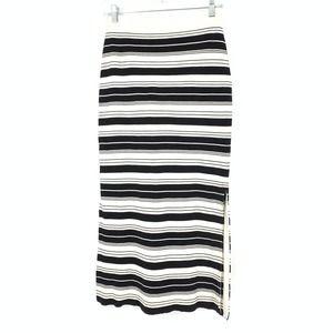 Proenza Schouler M Stripe Knit Midi Pencil Skirt